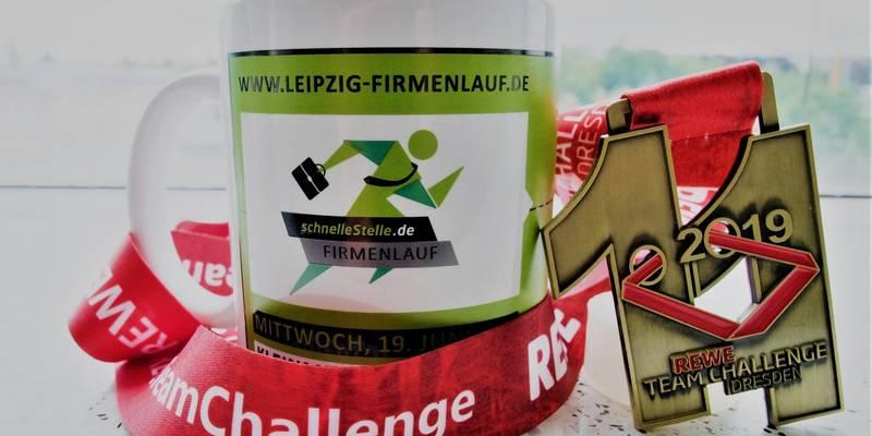 Finisher bei den Firmenläufen in Dresden und Leipzig